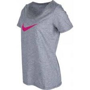Nike Womens Scoop Neck Graphic T-Shirt
